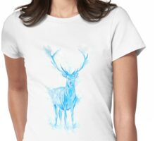 Prongs Stag Patronus Womens Fitted T-Shirt