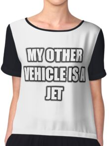 My Other Vehicle Is A Jet Chiffon Top