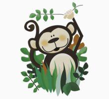Monkey in the Jungle Kids Tee