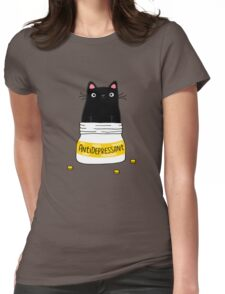 FUR ANTIDEPRESSANT Womens Fitted T-Shirt