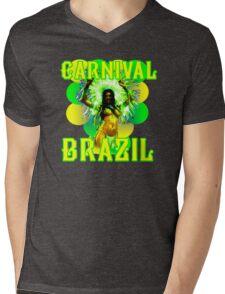 Carnival Brazil Mens V-Neck T-Shirt