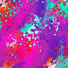 Vibrant Watercolor Splash Pink by SpiceTree