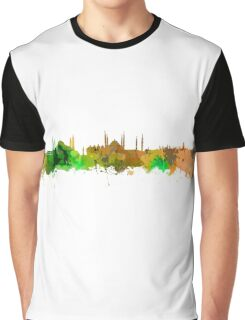 Istanbul Watercolour Skyline  Graphic T-Shirt