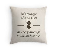 Jane Austen's Pride and Prejudice - Literary Quote, Book lovers gift, modern home decor. Throw Pillow