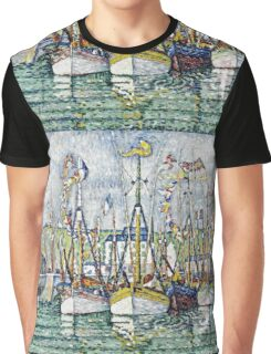 Paul Signac - Blessing Of The Tuna Fleet At Groix  Graphic T-Shirt