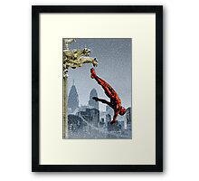 The man with no fear Framed Print