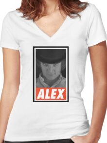 (MOVIES) Alex Women's Fitted V-Neck T-Shirt