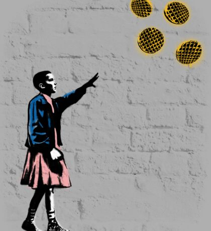 Girl and waffles Sticker