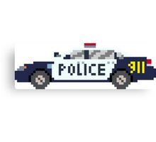 Police Car - The Kids' Picture Show - 8-Bit Canvas Print