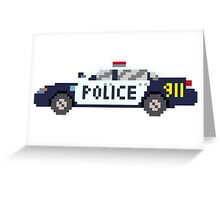 Police Car - The Kids' Picture Show - 8-Bit Greeting Card