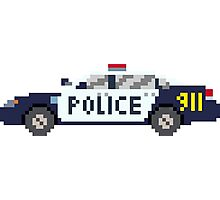 Police Car - The Kids' Picture Show - 8-Bit Photographic Print