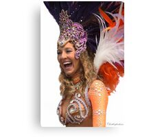 Samba Dancer Having a Laugh!  Canvas Print