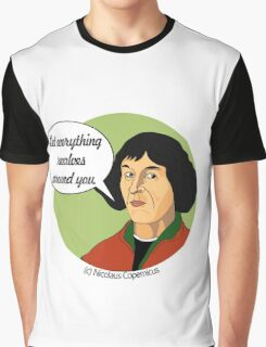 Funny Science Nicolaus Copernicus Graphic T-Shirt