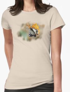 Little Pied Butterfly Womens Fitted T-Shirt