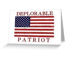 Deplorable Patriot Greeting Card