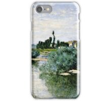 Claude Monet - The Seine at Lavacourt (1880)  iPhone Case/Skin