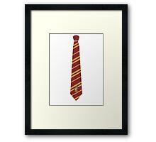 Gryffindor Tie Framed Print