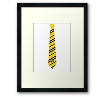 Hufflepuff Tie Framed Print