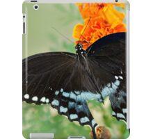Swallowtail butterfly on marigolds iPad Case/Skin