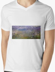 Claude Monet - Water Lilies (1915 - 1926)  Mens V-Neck T-Shirt