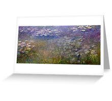 Claude Monet - Water Lilies (1915 - 1926)  Greeting Card