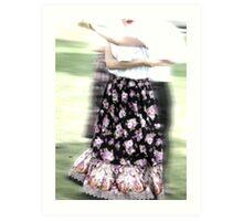 Dancing of Flowers  Art Print