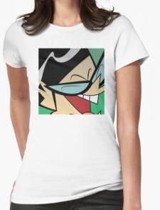 Mandark Halftone Womens Fitted T-Shirt