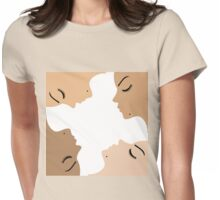 unity amongst beautiful women of different ethnicity  Womens Fitted T-Shirt