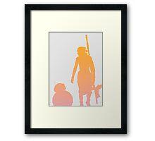 Star Wars - Rey and BB-8 Framed Print