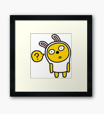 KakaoTalk Friends Muzi (Baffled) Framed Print