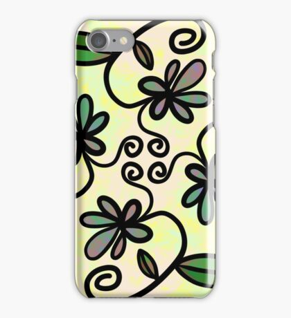 Abstract Floral Flower Style iPhone Case/Skin