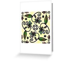Abstract Floral Flower Style Greeting Card