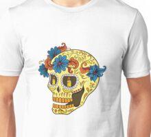 Sugar Skull yellow Unisex T-Shirt