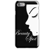 Girl with a beauty spot on chin  iPhone Case/Skin