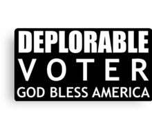 Deplorable Voter #basketofdeplorables Election 2016 White Canvas Print