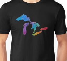 Great Lakes Watercolor #1 Unisex T-Shirt