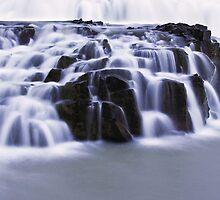 blue waterfall by Hannele Luhtasela-el Showk