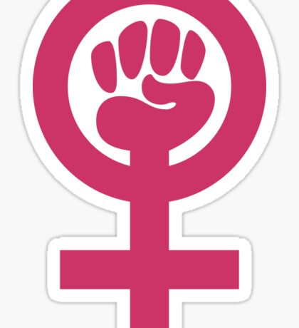 Pink is Not Weak, Feminist Symbol Sticker