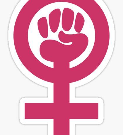 Pink is Not Weak, Feminist Symbol Sticker