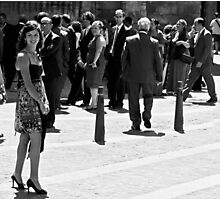 Lady in Bilbao Photographic Print