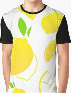 Fresh stylized Fruit : Lemon slices isolated on white Graphic T-Shirt