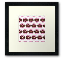 Chocolate Donut Pattern Framed Print