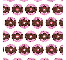 Chocolate Donut Pattern Photographic Print
