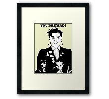 Rik Mayall - YOU B*STARD! Framed Print