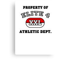 Property of Elite 4 Athletic Dept. Canvas Print