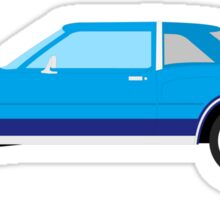 1977-1978 Dodge Diplomat - blue on dark blue Sticker