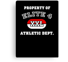 Property of Elite 4 Athletic Dept. Canvas Print