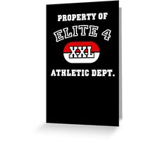 Property of Elite 4 Athletic Dept. Greeting Card