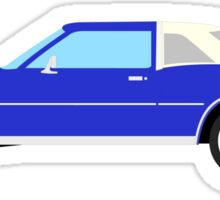 1977-1978 Dodge Diplomat - white & dark blue Sticker