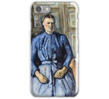 Paul Cezanne - Woman with a Coffeepot (Circa 1895)  iPhone Case/Skin